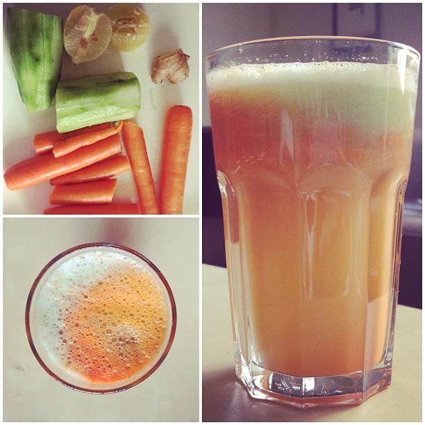 Carrot-Ginger-Lemon-Cucumber juice